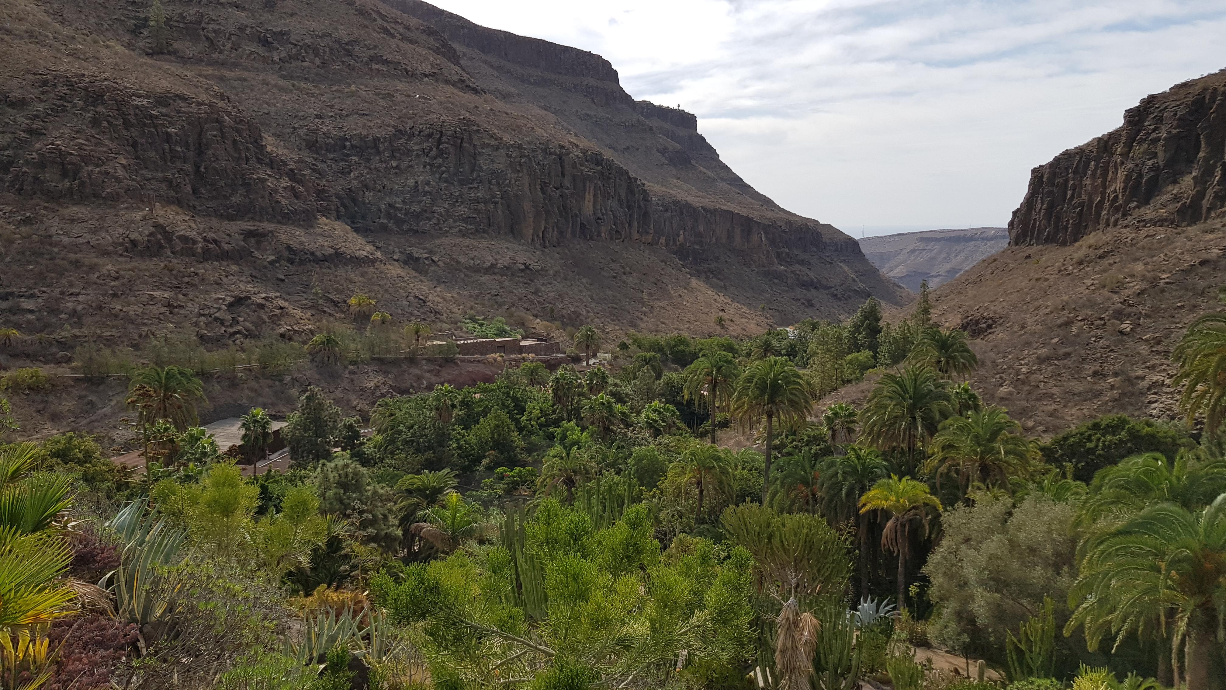 Palmitos Park Blick ins Tal