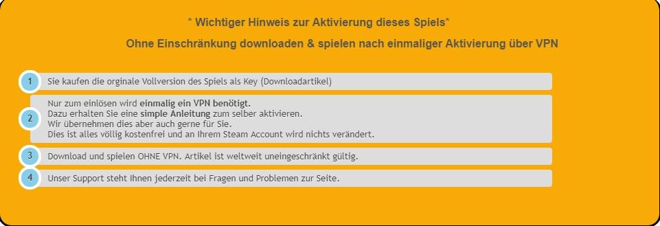 Keyseller mit VPN immer meiden!!!