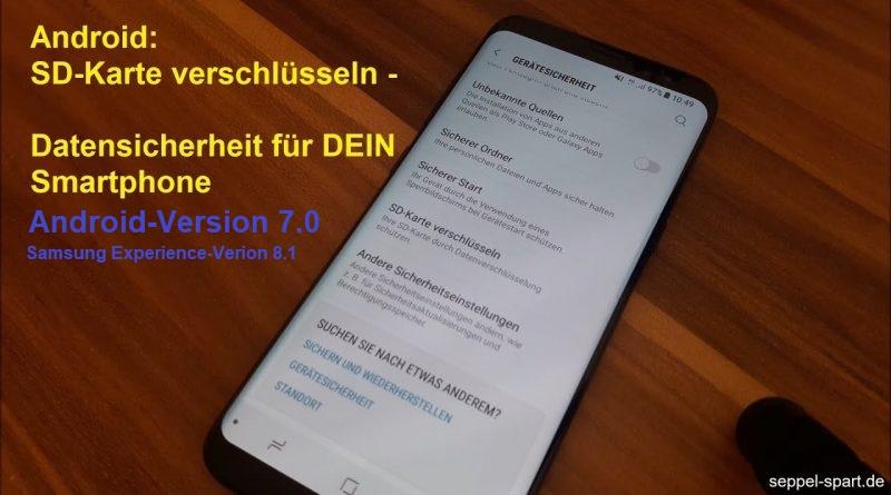 SD Karte verschlüsseln mit Android 7.0