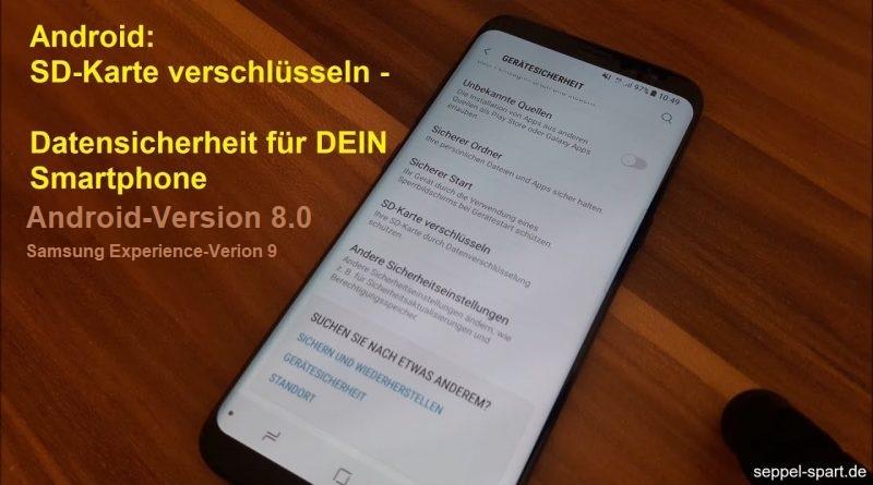 SD Karte verschlüsseln mit Android 8.0