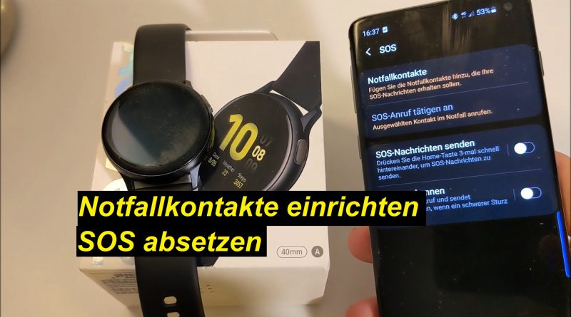 SOS absetzen auf der Samsung Galaxy Watch Active2 - Tutorial - SeppelPower