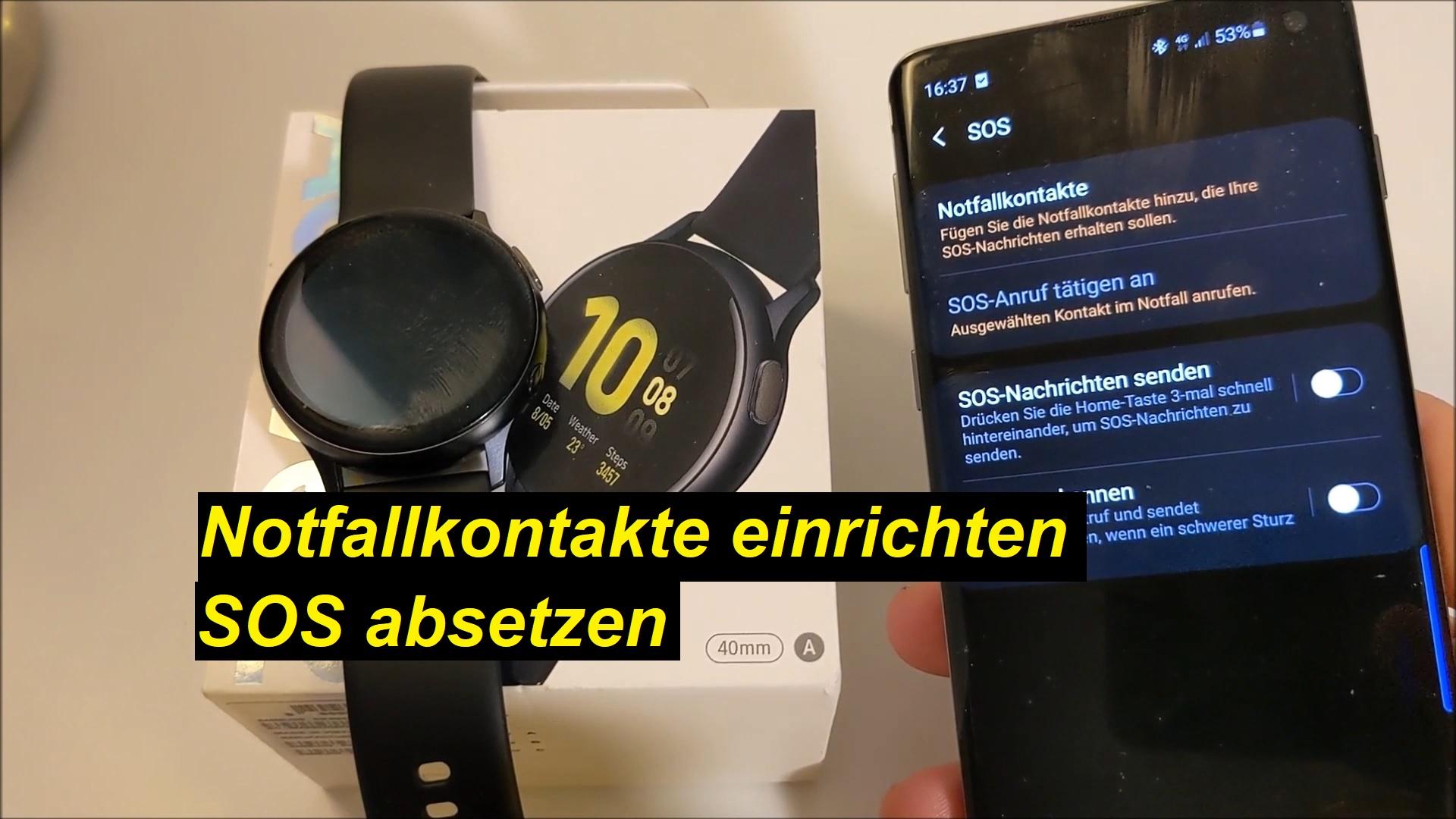 SOS absetzen auf der Samsung Galaxy Watch Active2 - Tutorial - SeppelPower