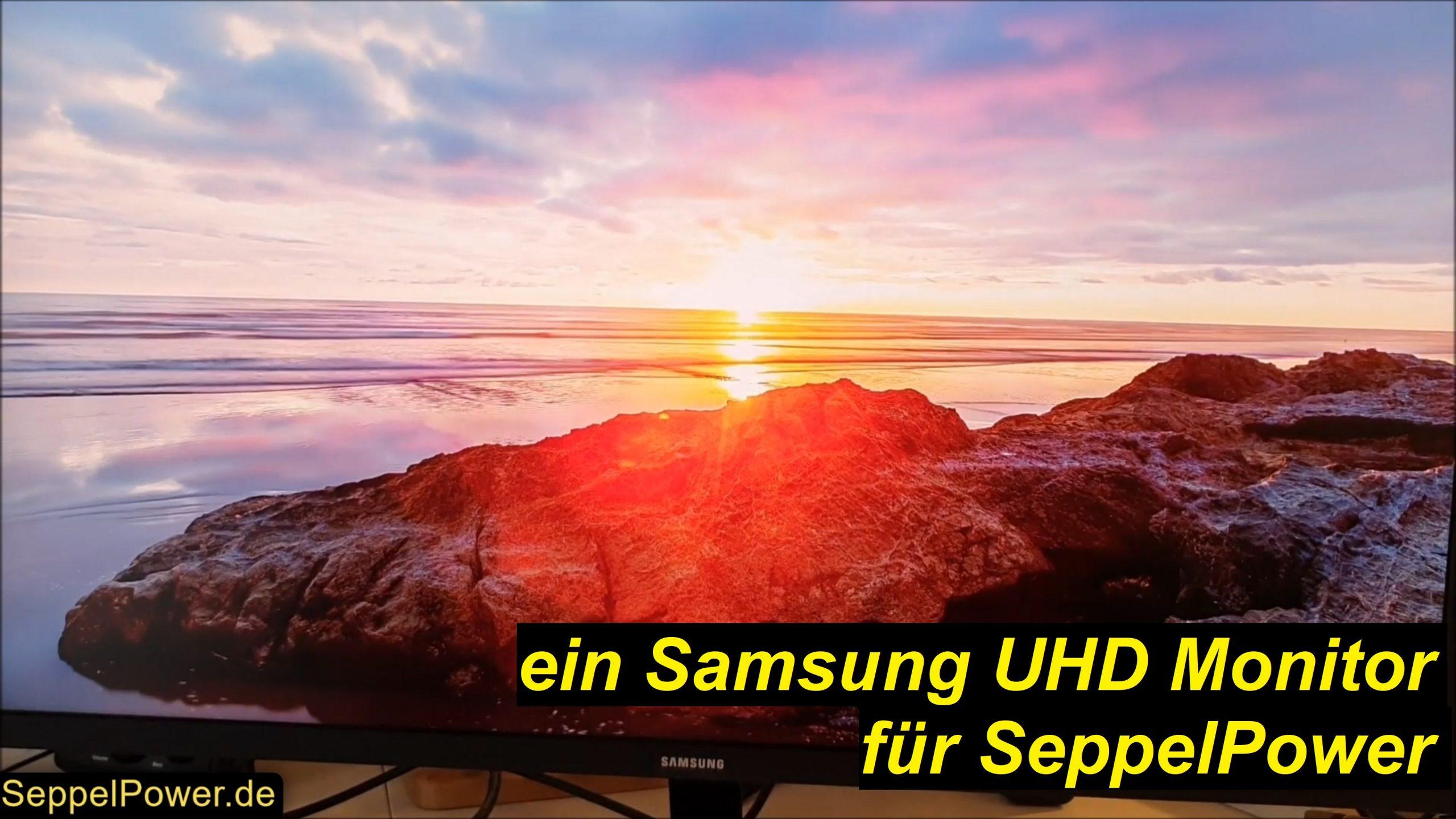 """UHD, 60HZ, 32"""", 47W...neuer PC Monitor für SeppelPower (U32J590UQU)"""
