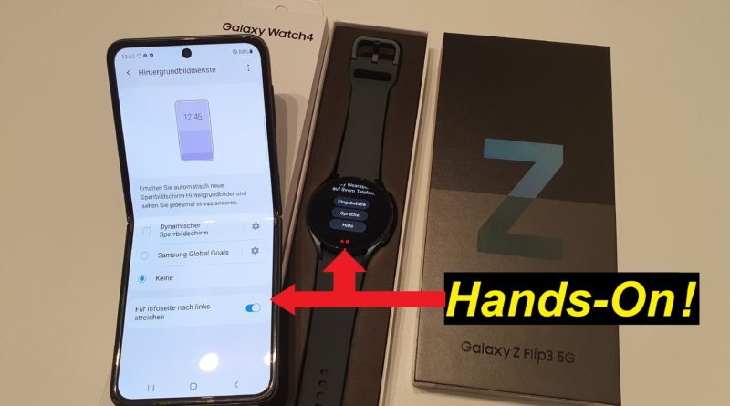 Post von o2! Samsung Galaxy Z Flip3 + Watch4. Hands-on!