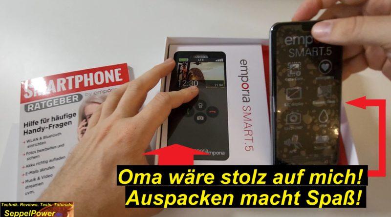 Das Emporia SMART.5 ausgepackt. Hands-on!