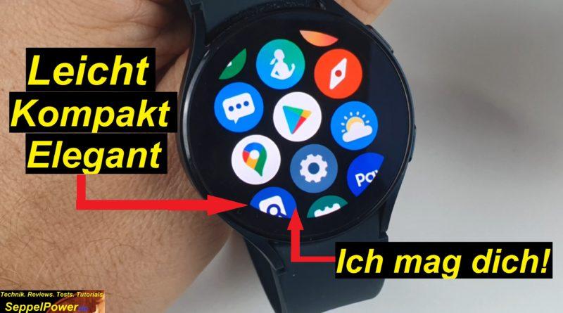 Grandios genial. Meine Samsung Galaxy Watch4 (LTE) mag ich!